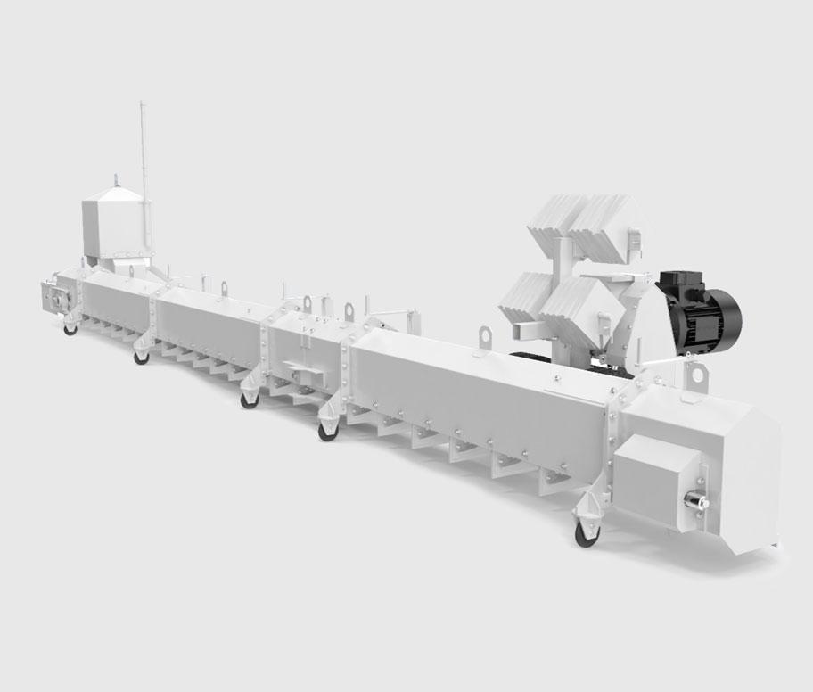 Зачистной транспортер транспортер для сортировка мусора