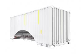 Патент на контейнер для транспортировки зерновых грузов
