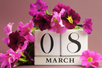 Дорогие женщины, поздравляем Вас с весенним праздником!