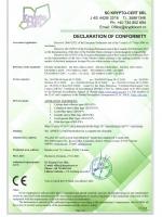 Декларация соответствия аспирационного оборудования директивам 2006/42/EC, 2014/30/EU, 2014/35/EU