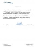 Certificate Symaga