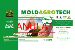 Отмена проведения выставки Moldagrotech (весна) 2020