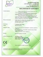 Декларация соответствия рукавного цилиндрического фильтра модели ZEO-FCS-44.35 директивам 2006/42/EC, 2014/30/EU, 2014/35/EU