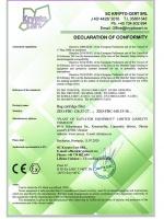 Декларация соответствия рукавного картриджного фильтра моделей ZEO-FBC-126.35-27; ZEO-FBC-168.35-36 директивам 2006/42/EC, 2014/30/EU, 2014/34/EU, 2014/35/EU