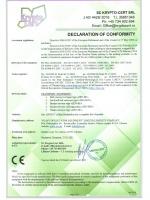 Декларация соответствия транспортного оборудования директивам 2006/42/EC, 2014/30/EU, 2014/35/EU