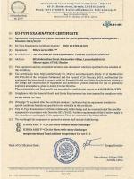 EU-Certificate examination type ICQC 18 ATEX 0410 X